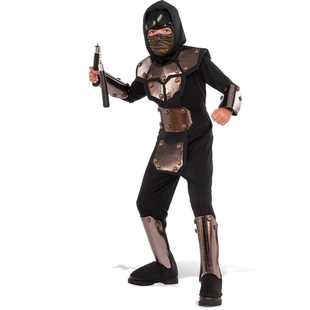 Boys' Iron Phantom Ninja Halloween Costume M - Rubie's, Black