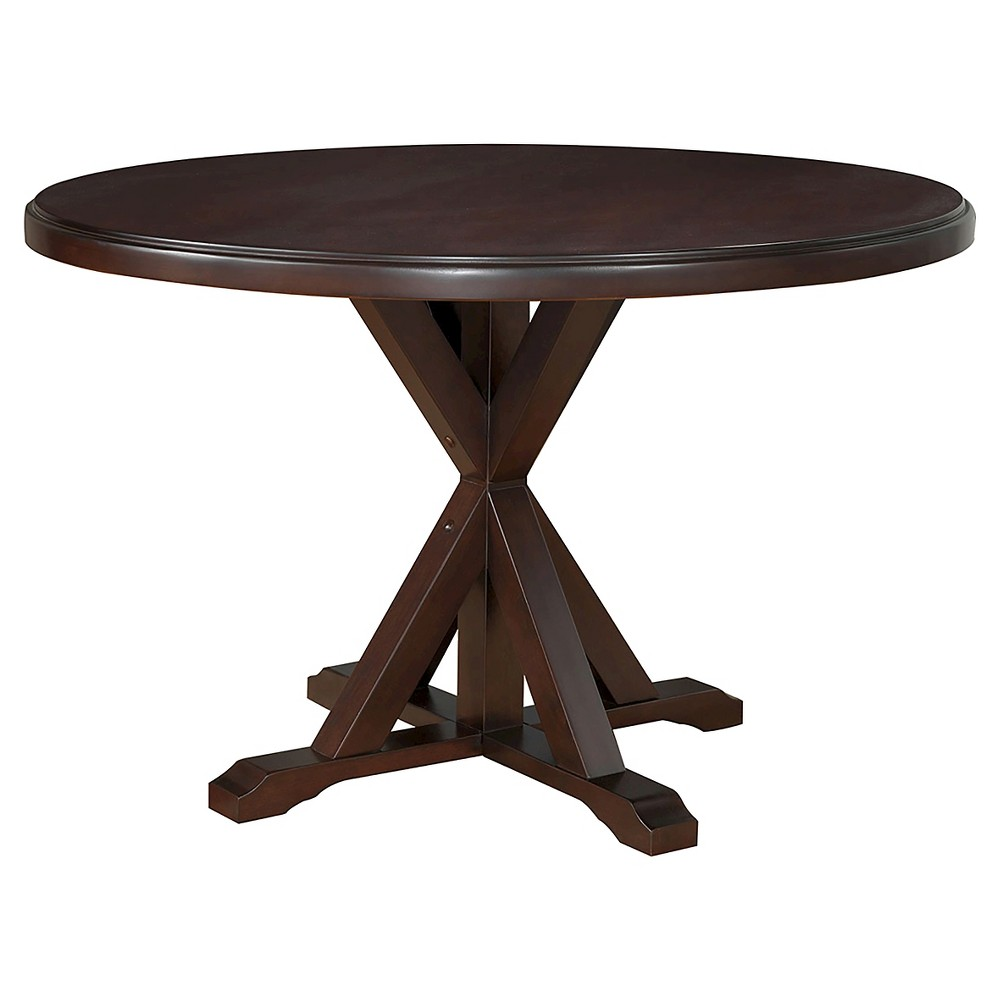 Image of Winslet X Base Dining Table - Espresso, Brown Brown