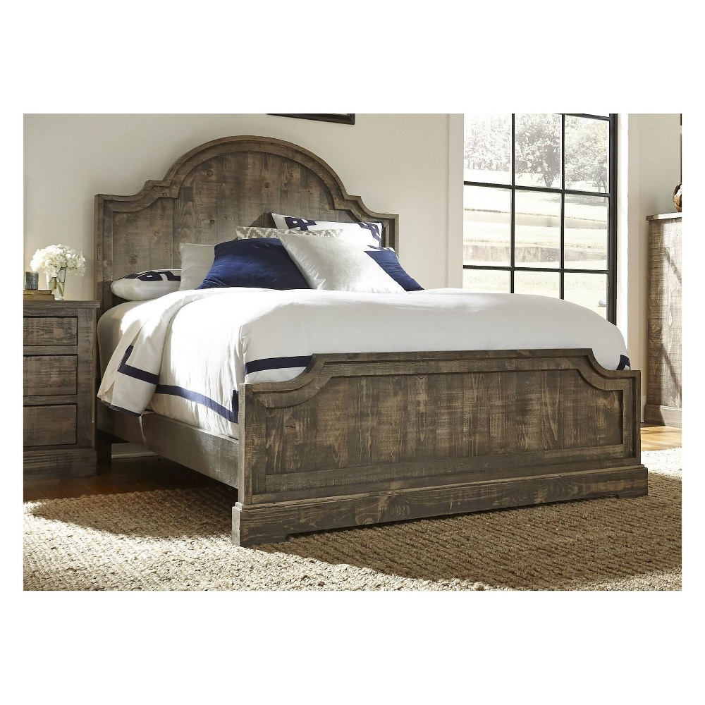 Image of King Meadow Panel Complete Bed Weathered Gray - Progressive