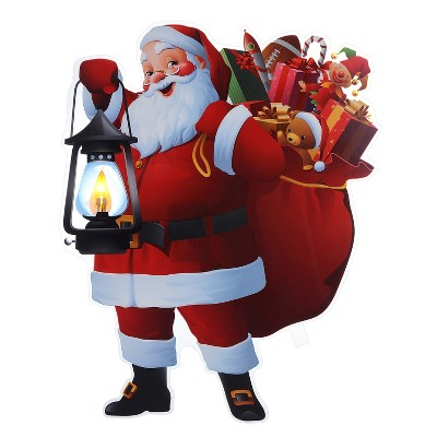 "Mr. Christmas Indoor LED Window Decal Christmas Decoration - Santa - 11"""