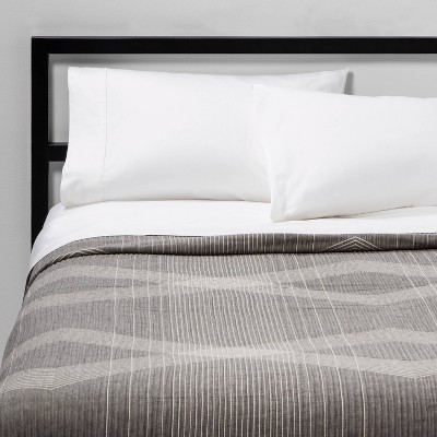 Full/Queen Oversized Reversible Jacquard Coverlet Charcoal - Project 62™
