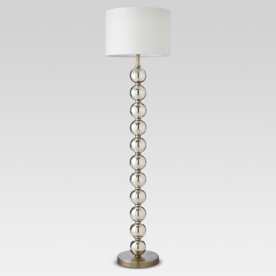 Mercury Glass Stacked Ball Floor Lamp Brass Includes Energy Efficient Light Bulb - Threshold™