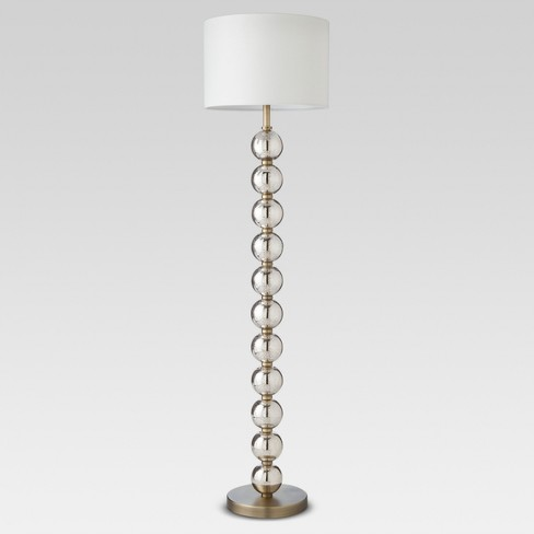 Mercury Glass Stacked Ball Floor Lamp Brass Includes Energy