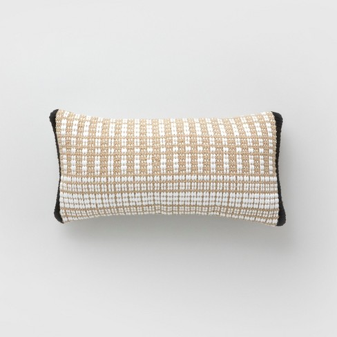 Lumbar Stripe Outdoor Pillow Natural/White - Project 62™ - image 1 of 1