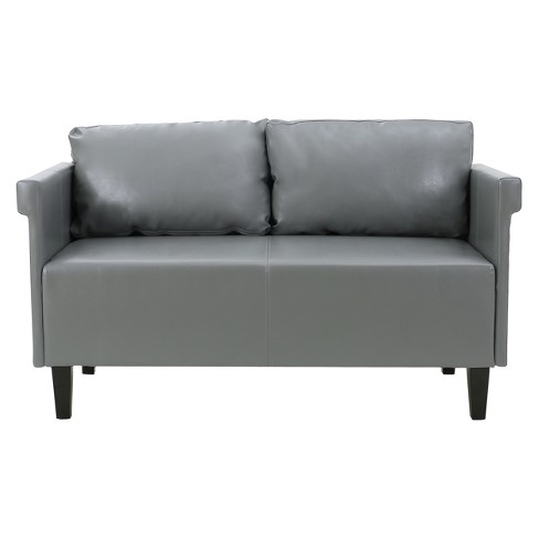 Bellerose Faux Leather Settee Christopher Knight Home
