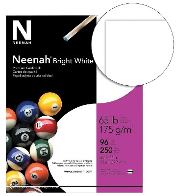 """Neenah Paper Neenah Cardstock Paper 65 lbs 8.5"""" x 11"""" (US letter) Bright White 496791"""