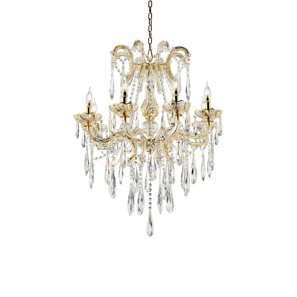 Luminaire Crystal Led Chandelier Gold - Ore International