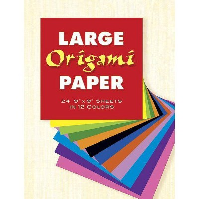 Large Origami Paper - (Dover Origami Papercraft) by  Dover Publications Inc (Paperback)