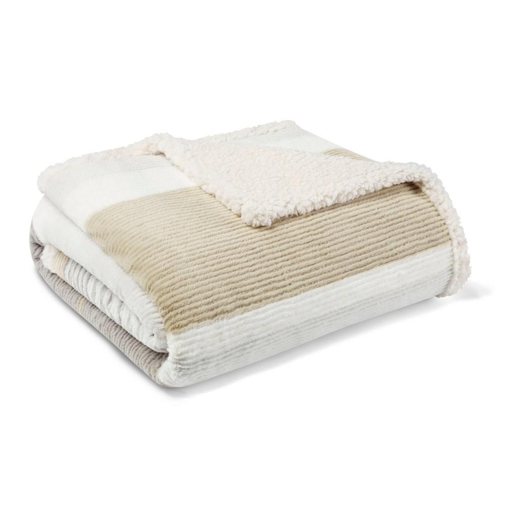 Image of Fillmore Stripe Throw Blanket Gray - Eddie Bauer