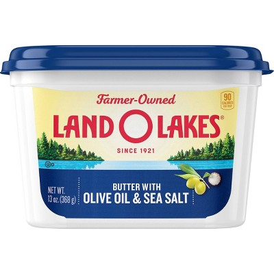 Land O Lakes Spreadable Butter with Olive Oil & Sea Salt - 13oz