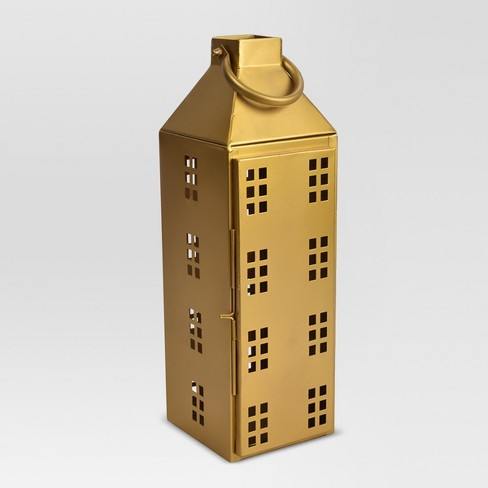 House Lantern Large - Gold - Threshold™ - image 1 of 2
