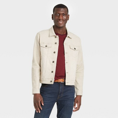 Men's Denim Trucker Jacket - Goodfellow & Co™ British Khaki