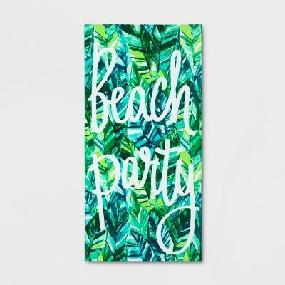 Beach Party Beach Towel Green - Sun Squad™