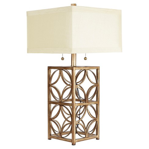 The Arden Two Pull Table Lamp with Shade - Gold - image 1 of 4