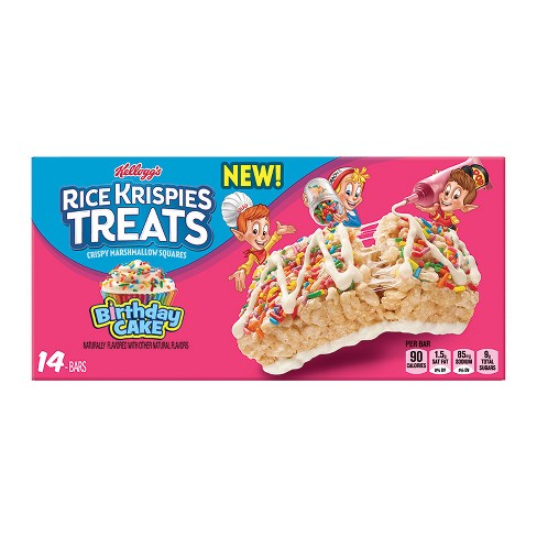 Rice Krispies Treats Birthday Cake Crispy Marshmallow Squares - 14ct - image 1 of 1