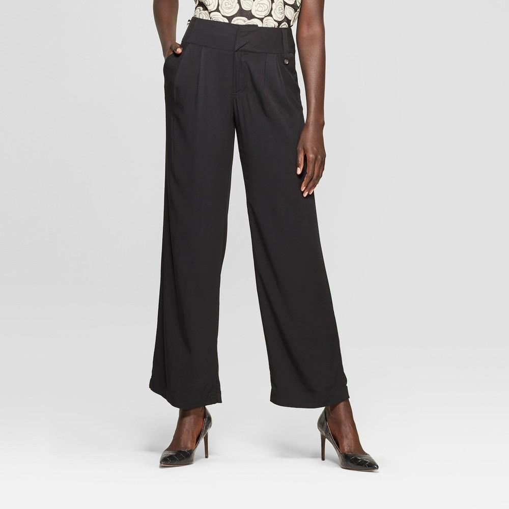 Women's Straight Leg Oversize Pocket Pants - Who What Wear Black 12