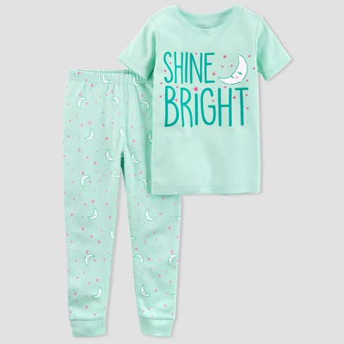 4a8f8abcc2 Baby Girls  2pc Moon Pajama Set - little planet™ organic by carter s ...