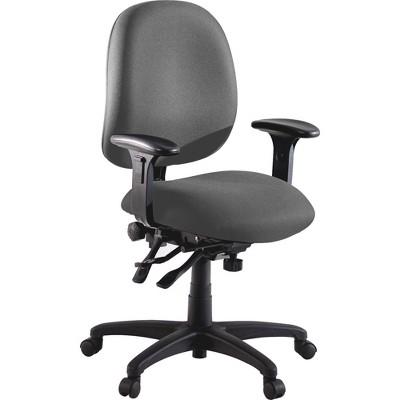 "Lorell Adjustable Task Chair 27-1/4""x25-1/4""x41-1/2"" Gray 60535"
