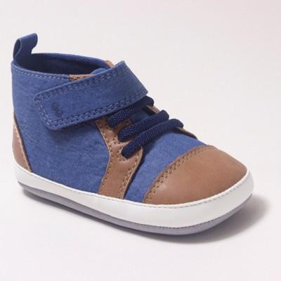 a5b8df2baf Baby Boys  Surprize by Stride Rite Denver High Top Sneaker Mini Shoes - Blue