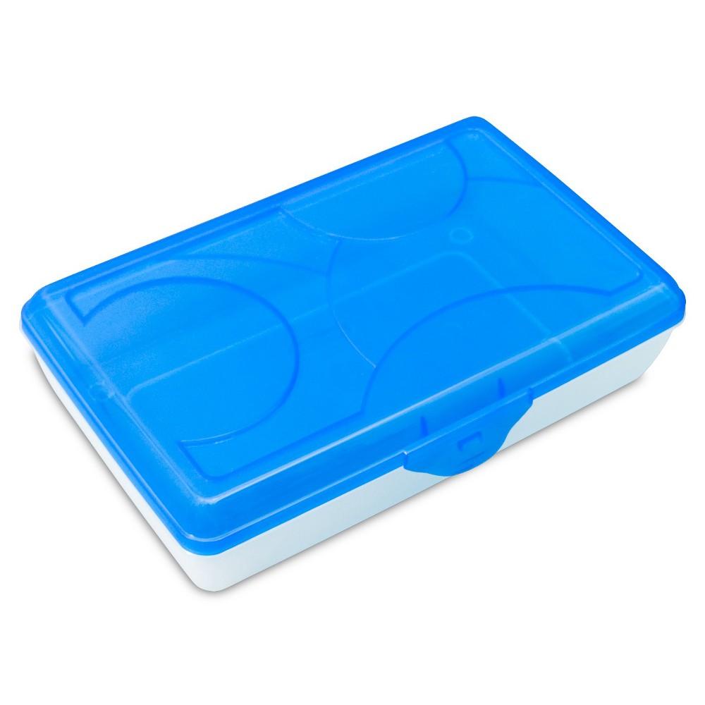 Image of Sterilite School Supply Box - Blue Top