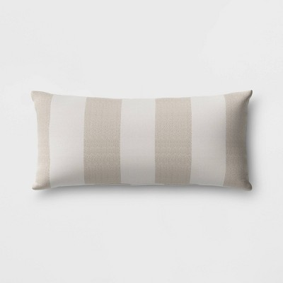 Cabana Stripe Outdoor Lumbar Throw Pillow DuraSeason Fabric™ - Threshold™