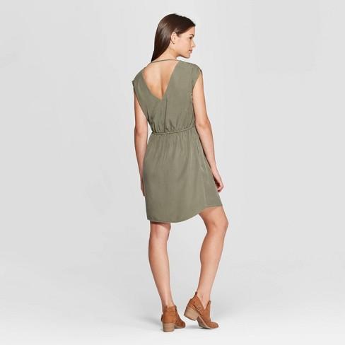 9603f61168 Women s Sleeveless V-Neck Cinched Waist Dress - Universal Thread ...
