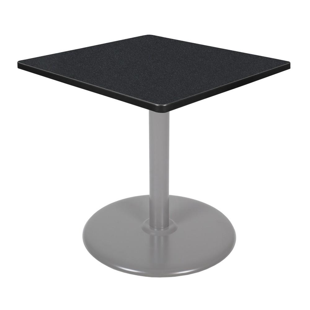 30 34 Via Square Platter Base Dining Table Carbon Gray Regency
