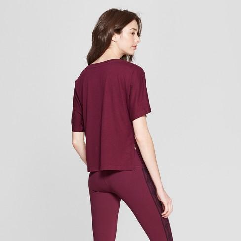 3849f5ee871dce Umbro Women s Logo T-Shirt - Purple Beet XL   Target