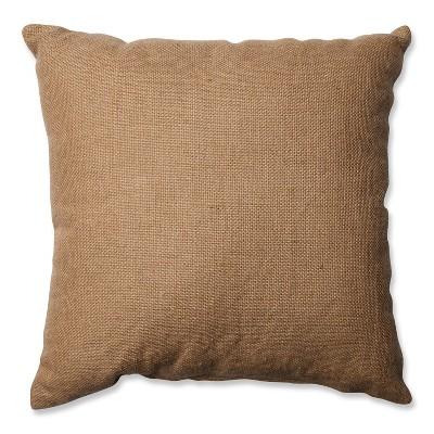 """Pillow Perfect Sunflower Burlap Throw Pillow - Tan (16.5"""") : Target"""