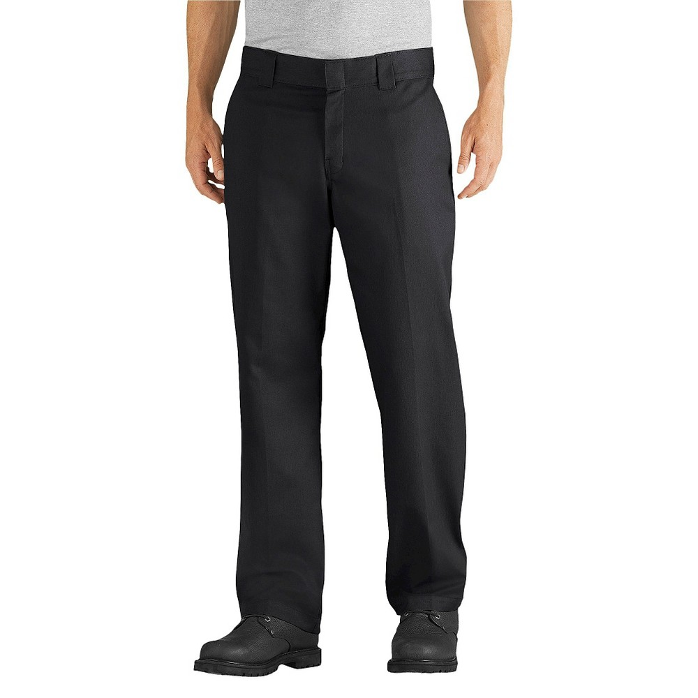 Dickies Men's Relaxed Straight Fit Flex Twill Pants- Black 30x30