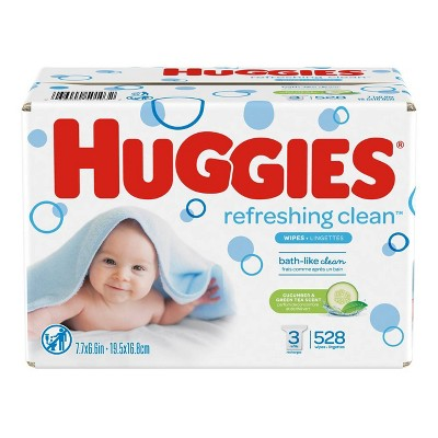 Huggies One & Done Refreshing Baby Wipes Refill - 528ct