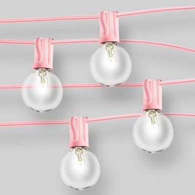 Clear Globe Lights Pink - Room Essentials™
