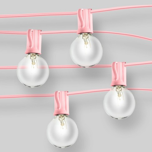 Clear Globe Lights Pink - Room Essentials™ - image 1 of 2