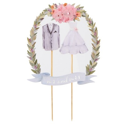 """Happily Ever After """"Mr and Mrs"""" Cake Topper - Papyrus"""