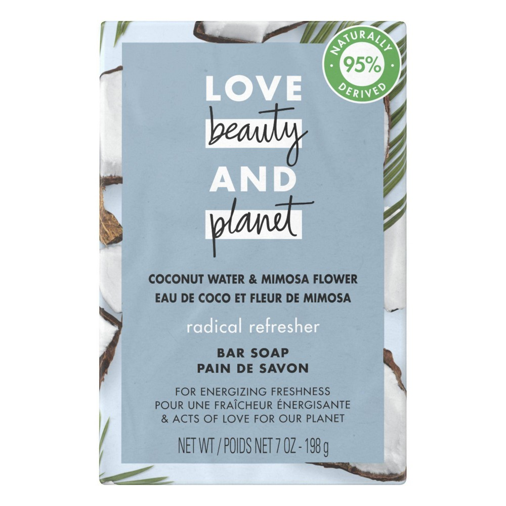 Image of Love Beauty & Planet Refreshing Bar Soap Coconut Water & Mimosa Flower - 7oz