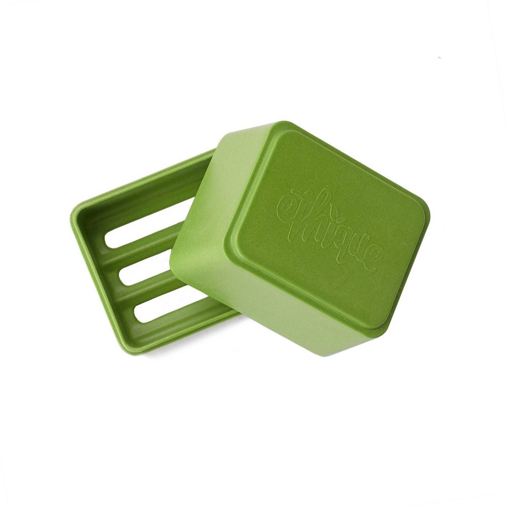 Image of Ethique Eco-Friendly Bamboo In-Shower Storage Container - Green - 1ct