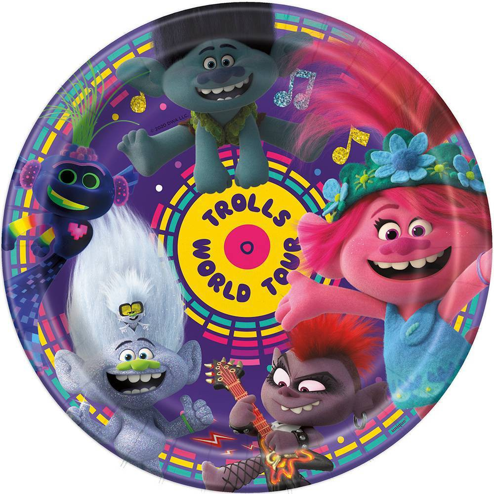 "Image of ""9"""" 8ct Trolls World Tour Plate"""