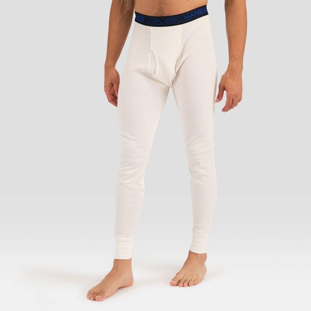 Image of Hanes Premium Men's X-Temp Fresh IQ Thermal Pants - Natural 2XL, White