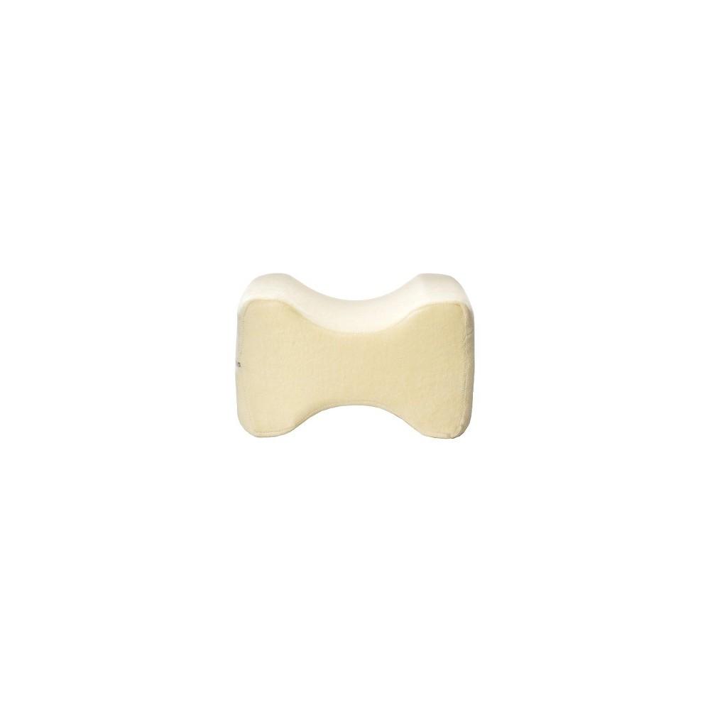 Image of Contour Memory Foam Leg Pillow - Ecru