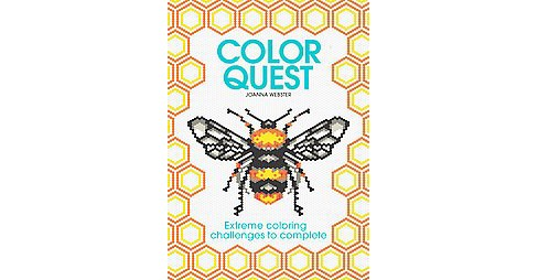 Color Quest Adult Coloring Book: Extreme Coloring Challenges to Complete - image 1 of 1