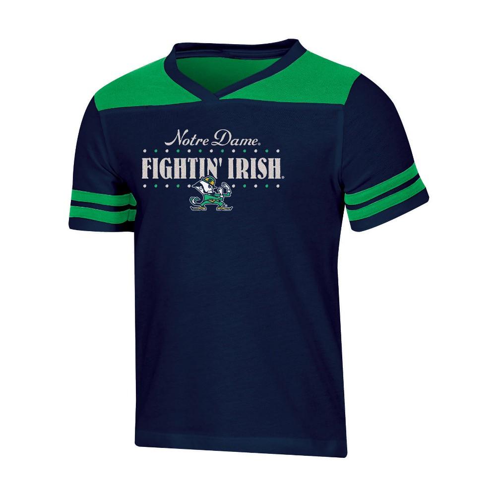 NCAA Girls' Heather Fashion T-Shirt Notre Dame Fighting Irish - XS, Multicolored