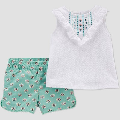Baby Girls' Geo Top & Bottom Set - Just One You® made by carter's Mint 12M