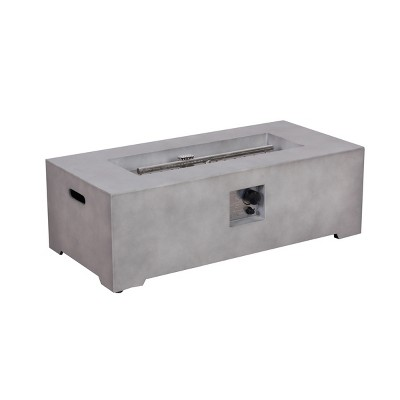 Pipestone 42  Long Rectangle LP Gas Fire Table - Concrete Grey - Project 62™