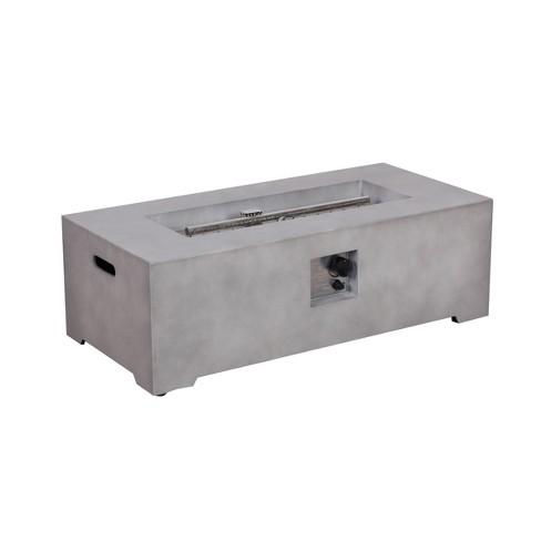 Pipestone 42 Long Rectangle Lp Gas Fire Table Concrete Grey Project 62