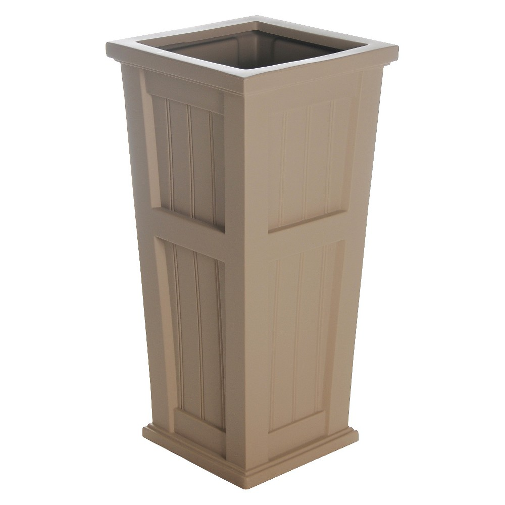 Image of 15.5 Cape Cod Tall Rectangular Planter - Muted Clay - Mayne