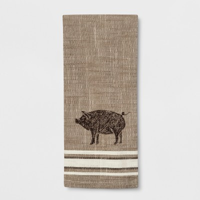 Pig Kitchen Towel Gray - Threshold™
