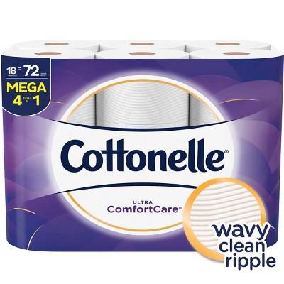 Cottonelle Ultra Comfort Care Toilet Paper - 18 Mega Rolls