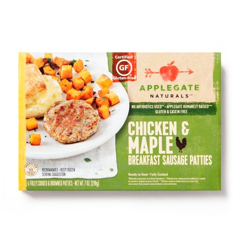 Applegate Chicken Maple Sausage Patties - 7oz - image 1 of 1