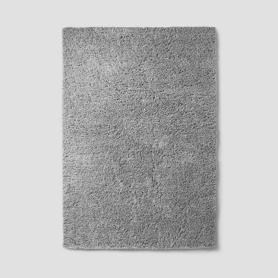 7'X10' Plush Shag Washable Area Rug Gray - Room Essentials™