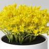 """6"""" x 6"""" Artificial Mimosa Arrangement in Pot Yellow - Threshold™ - image 3 of 4"""